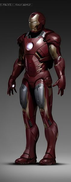 Avengers Concept Art | IRON MAN Mark VII by Phil Saunders