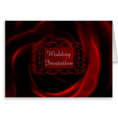 Red Rose wedding invitation note card