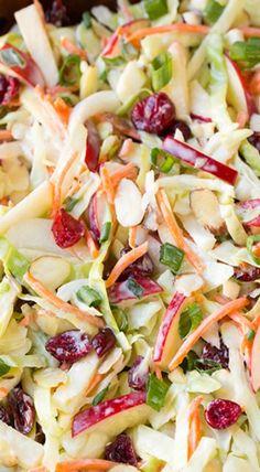 Apfel Cranberry Krautsalat Mehr - - Apfel Cranberry Krautsalat Mehr Source by Apple Coleslaw, Apple Slaw, Coleslaw With Apples, Apple Salad Recipes, Broccoli Slaw Recipes, Cabbage Salad Recipes, Cooking Recipes, Healthy Recipes, Cooking Ideas