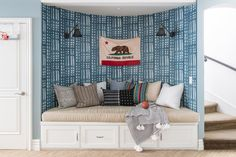 From Beige to Bright: Kate Lester Transforms a Mediterranean-Style SoCal Home | Rue Interior Styling, Interior Decorating, Interior Design, Woven Wood Shades, Mediterranean Homes, Cozy Corner, Sit Back And Relax, Home Decor Shops, Kid Spaces
