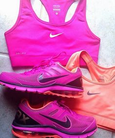 I like lots of color when I workout! It inspires me!  #fitness #fashion