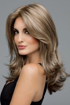 Side Swept Waves for Ash Blonde Hair - 50 Light Brown Hair Color Ideas with Highlights and Lowlights - The Trending Hairstyle Brown Ombre Hair, Ash Blonde Hair, Ombre Hair Color, Light Brown Hair, Light Hair, Brown Hair Colors, Dark Hair, Short Blonde, Hair Lights