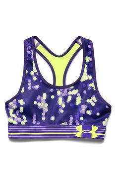 81bbc2fb2ae74 Under Armour Print Mesh Sports Bra (Big Girls) Mesh Panel