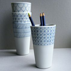 Atelier Halo (Fanny Cavin)  Inspiration for porcelain paint markers