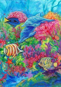 Toland Home Garden 119443 Coral Reef Garden Flag:Amazon:Patio, Lawn & Garden