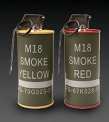 2 G&G Replica Smoke Grenades Airsoft BBs Container Set - Yellow / Red Airsoft speed loader Airsoft Grenade, Airsoft Bbs, Susanoo, Duty Gear, Military Weapons, Military Equipment, Guns And Ammo, Tactical Gear, Firearms