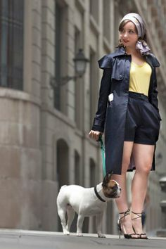 Gabardina y short de Katty Xiomara #fashion #portugal