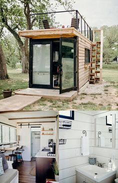 49 Amazing Tiny House Design That Make You Amazed > Fieltro.Net amazing tiny house design that make you amazed 31 Related Container Home Designs, Sea Container Homes, Building A Container Home, Container House Plans, Shipping Container Homes, Shipping Containers, Container Gardening, Container Shop, Storage Container Homes