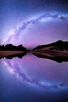Pfeiffer Beach, search in the reflection of the Galaxy by Ali Erturk