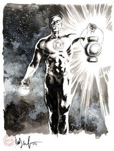 Green Lantern by Dave Wachter