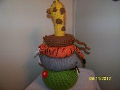 Crochet Jungle Stacker baby toy crochet toy IT by EEKsCreations, $36.99