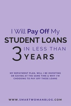 This is my plan to pay off $40,000 of student loans in just under 3 years. I could pay it off faster... or stretch it out but I chose 3 years for the following reasons. Read more... #studentloans #debtpayoff