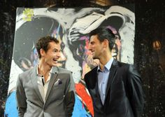 Andy and Novak. #WorldTennisDay