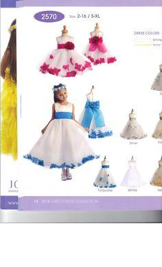 Flower Petal Bottom Dress for your little Flower Girl.