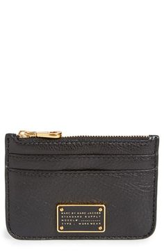 Free shipping and returns on MARC BY MARC JACOBS 'Too Hot to Handle - Lina' Card Case at Nordstrom.com. A logo plaque takes center stage on a textured leather case that will have your plastic and cash organized in a flash.