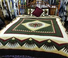 All of our quilts are made by Amish & Mennonites and are hand quilted. Many hours have gone into each quilt to create a one of a kind design . Star Quilts, Quilt Blocks, Quilt Bedding, Bed Quilts, Mariners Compass, Log Cabin Quilts, Jellyroll Quilts, Manta Crochet, Hand Quilting