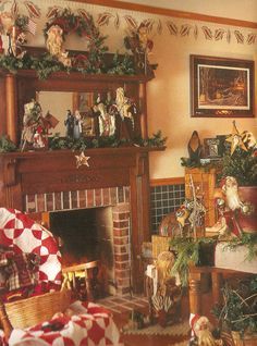 country chic christmas decorating   Country decor, in the same way, is not the lights from Target that ...