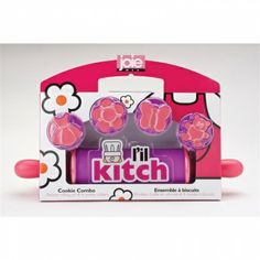 Surplus Direct -  Joie L'il Kitch Rolling Pin with Cookie Cutters - Set of 5 Pink - New Arrivals