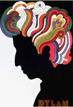 Milton Glaser's classic poster of Bob Dylan.