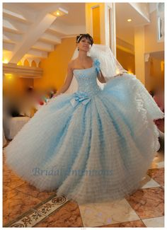 Unique wedding gown ball gown full ruffle by BridalIntentions