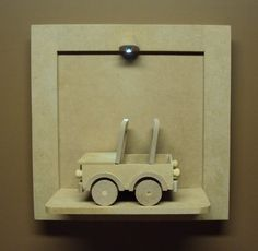 Quadro com led enfeite porta de maternidade com carrinho jipe Luartes Decoração.Nicho bebe,quadro nicho, nicho