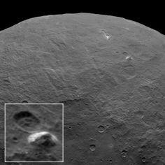 Sonde fotografiert weißen Pyramidenberg auf Ceres . . . http://www.grenzwissenschaft-aktuell.de/sonde-fotografiert-weissen-pyramidenberg-auf-ceres20150622/ . . .  Abb.: NASA/JPL-Caltech/UCLA/MPS/DLR/IDA