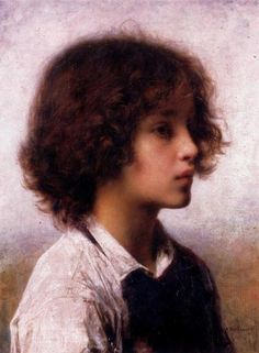 """Alexei Alexeivich Harlamoff (Russian painter, Alexei Alexeievich Harlamoff (1840–1925, Russian painter), """"Faraway Thoughts"""""""