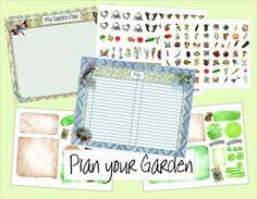 Digital Garden Journal Album Garden by PaperCottagePrinties