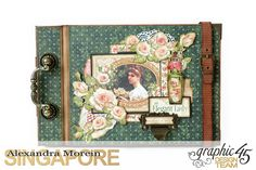 Mini Album  A Portrait of a Lady  Tutorial by Alexandra Morein  Product by Graphic 45  Photo 1