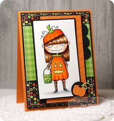 Mischief Maker Pumpkin Halloween card, supplies from Taylored Expressions-jen shults