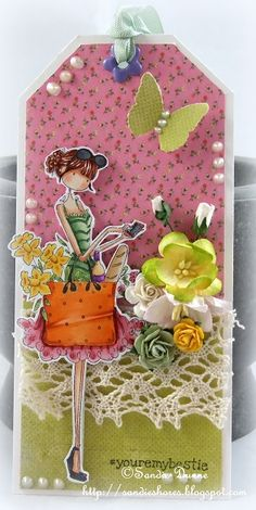 The Crafty Side Of Me....: Stamping Bella Bellariffic Friday - Flowers