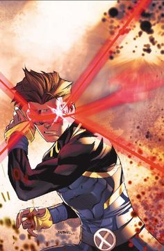 Scott Summers, better known as, Cyclops (Cyclops in English) is an American character belonging to the Marvel Comics Universe. Leader of the team known as X-Men, was created by Stan Lee and Jack Kirby, his debut in the comics was in Uncanny X-Men Comic Movies, Comic Book Characters, Comic Book Heroes, Marvel Heroes, Comic Character, Comic Books Art, Comic Art, Cyclops Marvel Comics, Marvel Dc