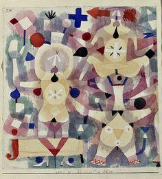 Paul Klee (Swiss-German, Karneval im Schnee [Carnival in the snow], Watercolour, 24 x cm. via kafkasapartment August Macke, Franz Marc, Illustrations, Illustration Art, Abstract Expressionism, Abstract Art, The Snow, Paul Klee Art, Cleveland Museum Of Art