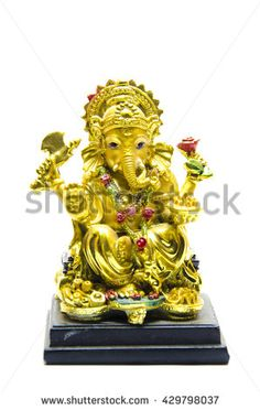 Find Ganesh Statue Golden Color Isolated On stock images in HD and millions of other royalty-free stock photos, illustrations and vectors in the Shutterstock collection. Ganesh Statue, Head Statue, Golden Color, Hinduism, Ganesha, Deities, Worship, Photo Editing, Religion