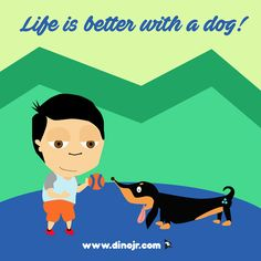 Dogs make life more fun!   #dinojrstudios #dogday #nationdogday #youtubekids #forkids #cute