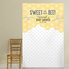 Sweet as can Bee Pin Dot Personalized Photo Backdrop