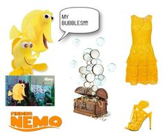"""""""Finding  Nemo: Bubbles"""" by andyarana ❤ liked on Polyvore featuring Michael Kors, Privileged and Cyan Design"""