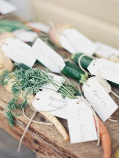 Farm to Table Wedding. Escort Cards. See more here: http://www.StyleMePretty.com/2014/04/07/rustic-farm-to-table-wedding-in-montana/ Jeremiah And Rachel Photography - http://jeremiahandrachel.com