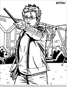 Harry Potter coloring page