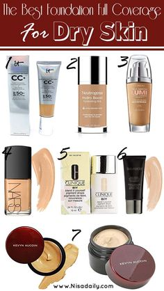 Whenever your skin is so dry that it snows a lot more than well nature using makeup to cover up it can actually attract more attention to the actual flakes and scaly patches bestfoundation foundationfullcoverage Best Foundation For Dry Skin, Bb Cream Foundation, Full Coverage Foundation, No Foundation Makeup, Natural Foundation, Powder Foundation, Best Drugstore Makeup, Makeup Dupes, Skin Makeup