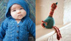 Cute baby in Malabrigo cardi