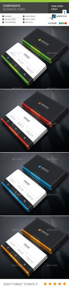 Corporate Business Card - Corporate Business Cards Download here : https://graphicriver.net/item/corporate-business-card/19347635?s_rank=81&ref=Al-fatih