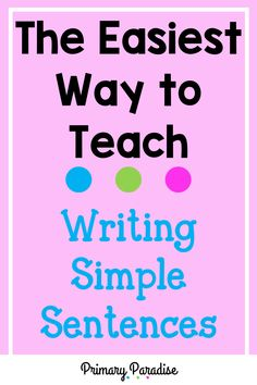 These hands on lessons are a simple way to teach your kindergarten and first grade students how to write a simple sentence with capitalization, punctuation, and a complete thought. How To Teach Writing, Writing Lessons, Teaching Writing, Writing Practice, Teaching Ideas, First Grade Spelling, First Grade Writing, Teaching First Grade, First Grade Teachers
