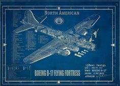 Boeing B-17 Flying Fortress blueprints