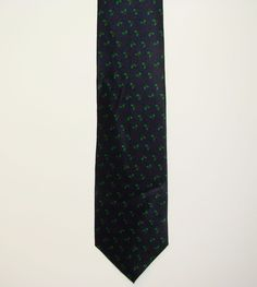 HOLIDAYS MMG Mens Christmas Holly Blue 100% Silk Dress Neck Necktie Tie 58in #Holidays #Tie