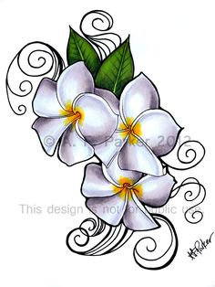 Hawaiian Tattoos Meanings Hawaiiantattoos Hawaiian in hawaiian flower drawing Plumeria tattoo designed by my daughter for my foot tattoo Tatoo 3d, Lila Tattoo, Hawaiianisches Tattoo, Frangipani Tattoo, Plumeria Flowers, Hawaiian Flower Drawing, Hawaiian Flower Tattoos, Hawaiian Flowers, Foot Tattoos