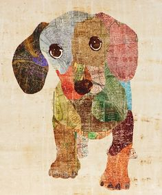 Artist Sofia Fox.   If you were a weenie dog you too might prefer a portrait that does not emphasize your weenie/