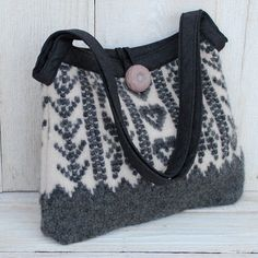 HEARTS Recycled Sweater Purse by karenmeyers on Etsy, $54.00