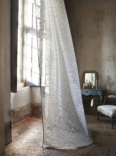 curtain drapey long white