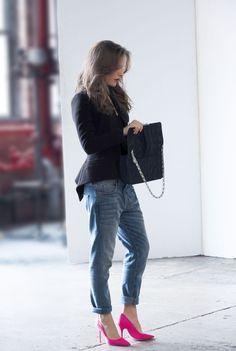 BTS Natalie Portman on set for Rouge Dior shoot.